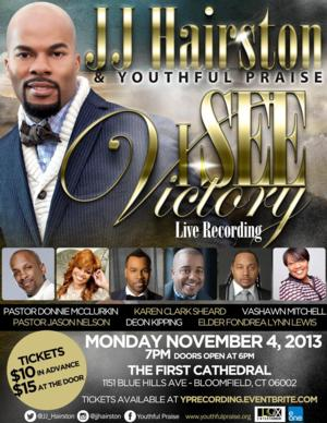 JJ Hairston & Youthful Praise to Host Live Album Recording for I SEE VICTORY, Today