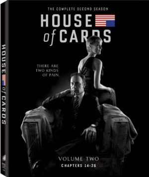 HOUSE OF CARDS: Complete Second Season Coming to Blu-ray/DVD, Today