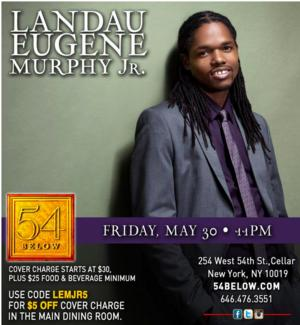 Landau Murphy Jr. Plays 54 Below Tonight