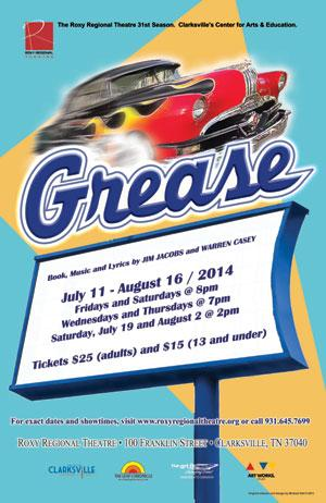 GREASE to Run 7/11-8/16 at Roxy Regional Theatre