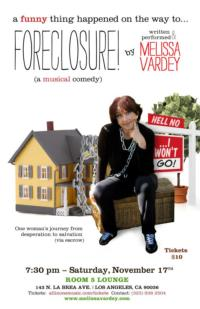 Melissa Vardey Brings 'A FUNNY THING HAPPENED...FORECLOSURE' to Room 5 Lounge, 11/17