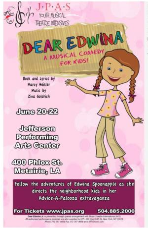 JPAS Youth Musical Theatre to Present DEAR EDWINA, 6/20-22