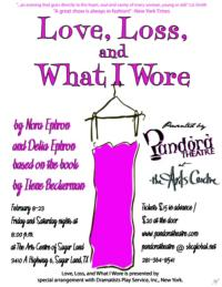Pandora Theatre to Present Texas Premiere of LOVE, LOSS AND WHAT I WORE, 2/8-23