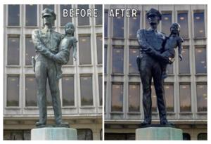 Police Headquarters to Celebrate 'A Friend' Sculpture Restoration in Philly, 10/28