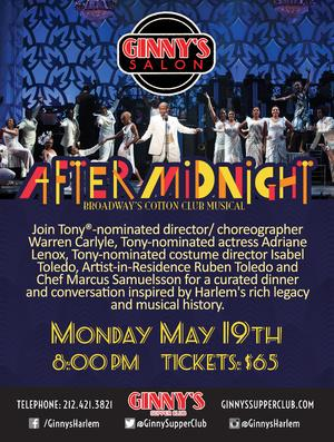 AFTER MIDNIGHT's Warren Carlyle, Adriane Lenox and Isabel Toledo Set for Ginny's Salon Series, 5/19