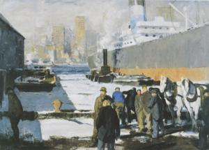 The National Gallery Acquires First Major American Painting, MEN OF THE DOCKS by George Bellows