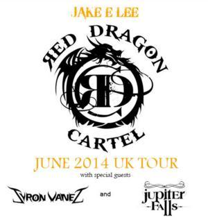 Jake E. Lee's Red Dragon Cartel Announce June 2014 UK Tour Dates