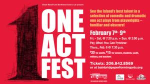 Dinah Manoff and Northwest Actors Lab to Present 2014 ONE ACT FEST, Running 2/7-9 at BPA