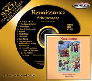 Audio Fidelity to Release Renaissance's 'Scheherazade and other stories' on Hybrid SACD