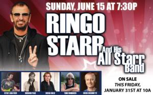 RINGO STARR & HIS ALL-STARR BAND Make PPAC Debut, 6/15