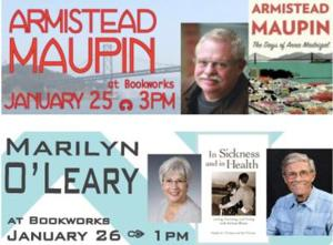 This Week at Bookworks Includes Amistead Maupin, Marilyn O'Leary and More