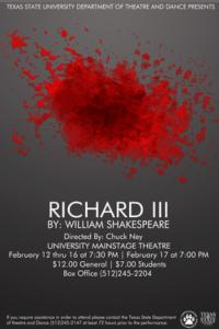 BWW Reviews: TSU-San Marcos Offers Interesting But Muddy RICHARD III