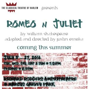 Classical Theatre of Harlem Returns with Free Summer Production of ROMEO N JULIET, 7/5-27