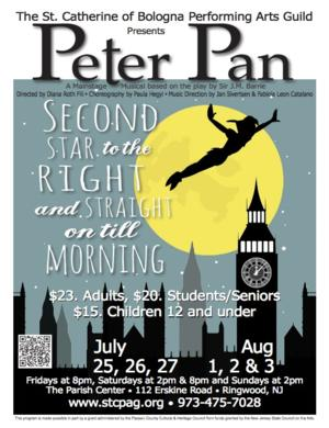 St. Catherine's Performing Arts Guild Presents PETER PAN, Now thru 8/3