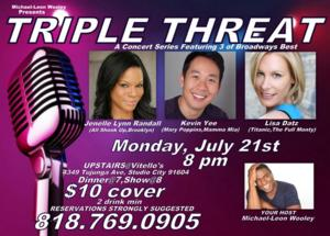 Vitello's Jazz and Supperclub to Present TRIPLE THREAT with Jenelle Lynn Randall, Kevin Yee & Lisa Datz, 7/21