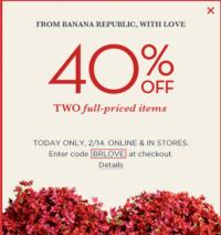 Daily Deal 2/14/13: Banana Republic