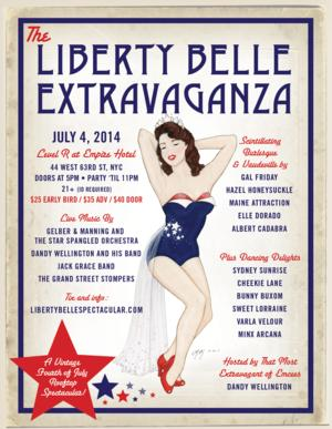 5th Annual LIBERTY BELLE EXTRAVAGANZA Set for Empire Hotel, July 4