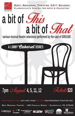 Cast of Roxy Regional Theatre's GREASE to Perform A BIT OF THIS, A BIT OF THAT, 8/4-12