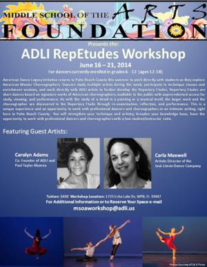 Renowned Dance Instructors Return to Palm Beach County in ADLI Workshop, 6/16-21
