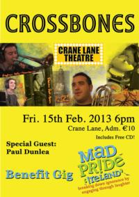 Crossbones to Play Crane Lane Theatre, February 15