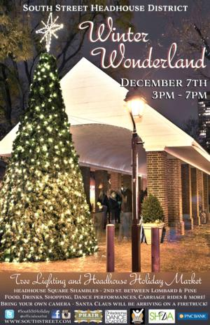 South Street Headhouse District to Launch Winter Wonderland with Tree Lighting and More, 12/7