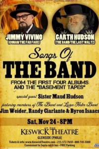 Vivino, Hudson to Perform Songs of THE BAND at Keswick Theatre, 11/24