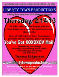 Liberty Town Productions to Host 2nd Annual V-Day Celebration, 2/14