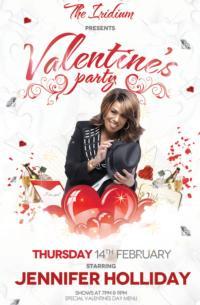 Tony Winner Jennifer Holliday Headlines The Iridium's Valentine's Day Party Tonight
