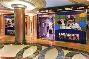 UFC Fighters Take Over Lagasse's Stadium At The Palazzo Las Vegas During International Fight Week
