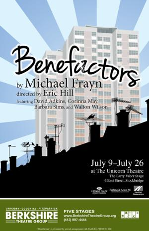 David Adkins, Corinna May, Barbara Sims & Walton Wilson Star in Berkshire Theatre Group's BENEFACTORS, Now thru 7/26