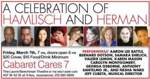 CABARET CARES Celebrates Herman & Hamlisch with Karen Mason, Bernard Dotson & More, 3/7