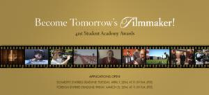 2014 Student Academy Awards Competition Now Underway