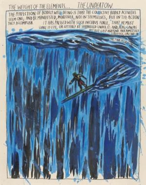 First Exhibition of Raymond Pettibon's SURFER PAINTINGS Open 4/3 at Venus Over Manhattan