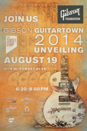 THE SUNSET STRIP & GIBSON FOUNDATION to Unveil GuitarTown Art Pieces