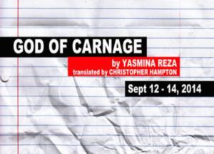 Our Productions Theatre Co. to Stage GOD OF CARNAGE, 9/12-14