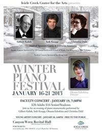 Icicle Creek Center for the Arts Hosts 7th Annual Piano Festival, 1/16-20