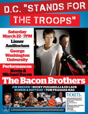 "The Bacon Brothers and Comedian Jim Breuer to Headline DC ""STANDS FOR THE TROOPS,"" 3/22"
