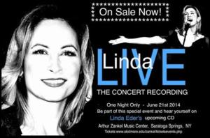 LINDA EDER CONCERT Coming to Saratoga Springs, 6/21