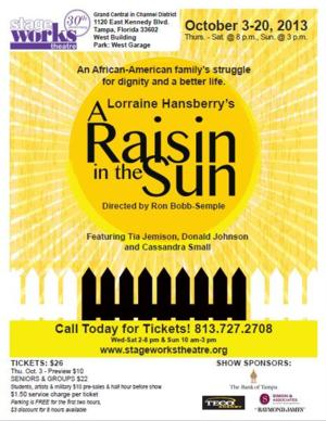 Stageworks' A RAISIN IN THE SUN Now in Rehearsals