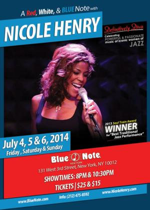 Celebrate July 4th Weekend with Nicole Henry at Blue Note