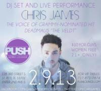 Chris James Plays Push Ultra Lounge Tonight