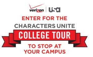 USA Network & Verizon Announce CHARACTERS UNITE COLLEGE TOUR