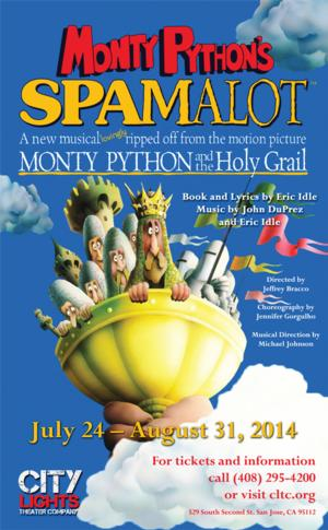 Monty Python's SPAMALOT Set for City Lights Theater, Now thru 8/31