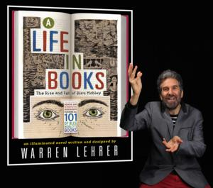 Warren Lehrer Presents a Multimedia Performance/Reading of A LIFE IN BOOKS: THE RISE AND FALL OF BLEU Tonight