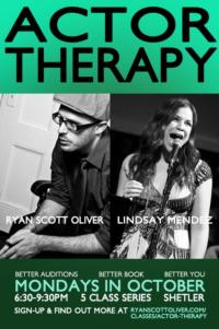 Lindsay Mendez and Ryan Scott Oliver Offer ACTOR THERAPY on Mondays, 10/1-29
