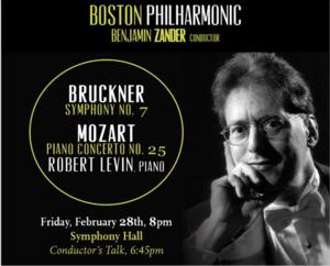 Boston Philharmonic to Welcome Pianist Robert Levin, Playing Mozart and Bruckner, 2/28