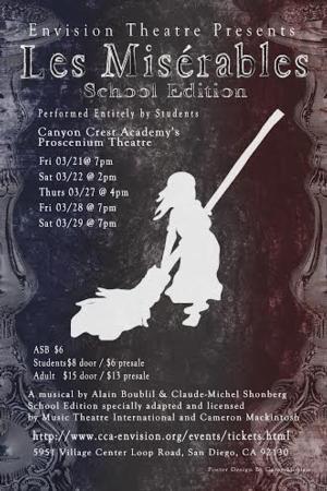 CCA Envision Theatre Presents LES MISERABLES: SCHOOL EDITION, 3/21-29