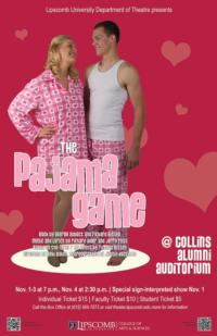 Baker and Boccitto Bring THE PAJAMA GAME to Lipscomb Theatre Stage, Now thru 11/4