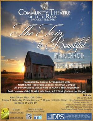 CTLR to Present THE TRIP TO BOUNTIFUL, Begin. 4/25