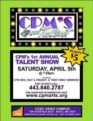 Children's Playhouse of Maryland Presents First Annual Talent Show, 4/5